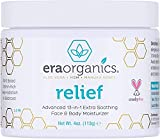 Era Organics Eczema, Psoriasis & Dermatitis Cream - Advanced 15-in-1 Non-Greasy Soothing Moisturizer with Aloe Vera, Manuka Honey & More. Face & Body Lotion for Dry Itchy Skin Care 4oz