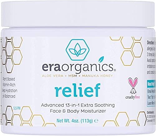 Era Organics Psoriasis- & Ausschlag-Creme 120ml. Nicht-fettend mit Bio-Aloe-Vera, Manuka-Honig,...