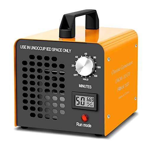 Generador de Ozono 12000mg/h,Purificador Ozono de Aire Profesional con Temporizador contra gérmenes, moho, malos olores, para habitaciones, humo, coches, oficina y mascotas, Limpia hasta 1000㎡