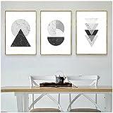 Obra de arte de lienzo 60x80cm 3 piezas SIN marco Mármol abstracto Patrones geométricos Pintura de la lona Impresión del arte Cartel Restaurante Oficina Imagen del hogar Decoración de la sala de estar