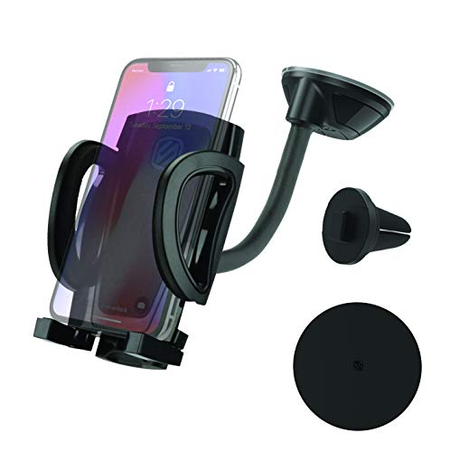 SCOSCHE IHW10-SP1 STUCKUP Universal 4-in-1 Smartphone/GPS Suction Cup/Vent Mount Kit for the Car, Home or Office