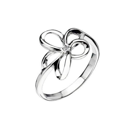 Hot Diamonds DR092/N - Anillo de mujer de plata de ley con 1 diamante (talla: 14)