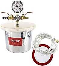 YaeTek Small Mini 3 Quart Vacuum Chamber Stainless Steel for Degassing Urethanes Silicone Epoxies with Acrylic Lid