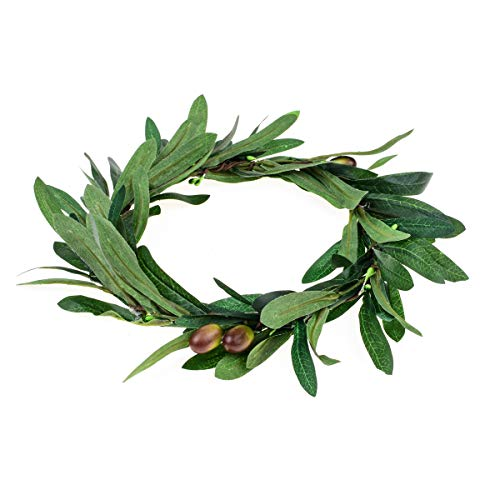 Floral Fall Artificial Olive Leaf Greece Flower Halo Bridal Headpiece Greenery Crown HC-32 (Olive Leaf)