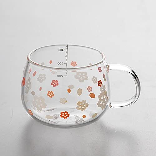 Caffè Tazza Ceramicatazza Di Vetro Termostatica Da 55 Gradi Da 430 Ml Con Infusore Per Il Tè Filtro E Coperchio Fiori Di Ciliegio Bicchieri Trasparenti Resistenti Al Calore