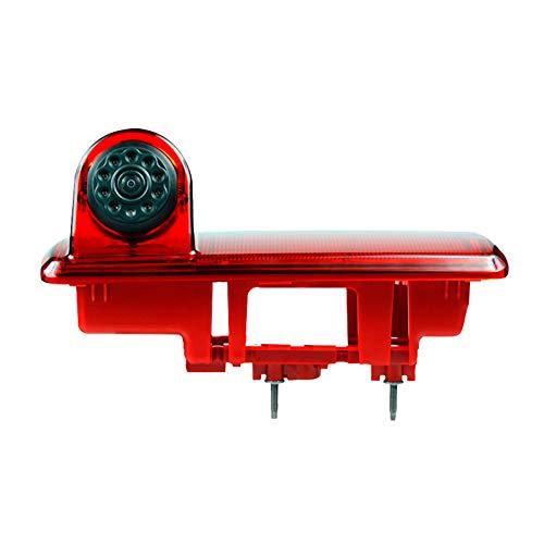SODIAL Telecamera Ad Alta Definizione Impermeabile IR per Visione Notturna, Retrovisore, Luce di Stop per 2014 Vivaro / 2014 Trafic, Terza Fotocamera Freno
