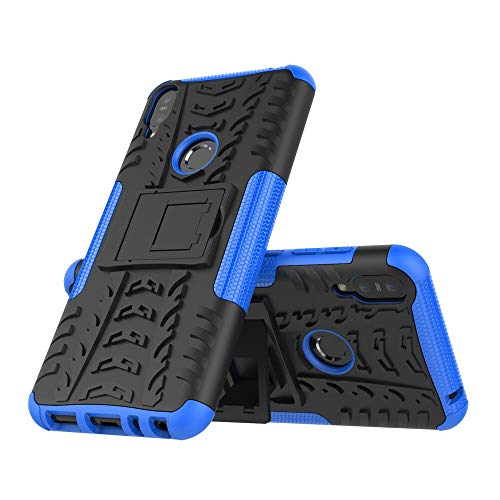 RZL Teléfono móvil Fundas por Otra ASUS Zenfone MAX Pro M1 ZB602KL, Cubierta de Silicona Parachoques Suave Armadura PC Lujo de la Caja para Zenfone ZB601KL (Color : Azul, Material : PC TPU)
