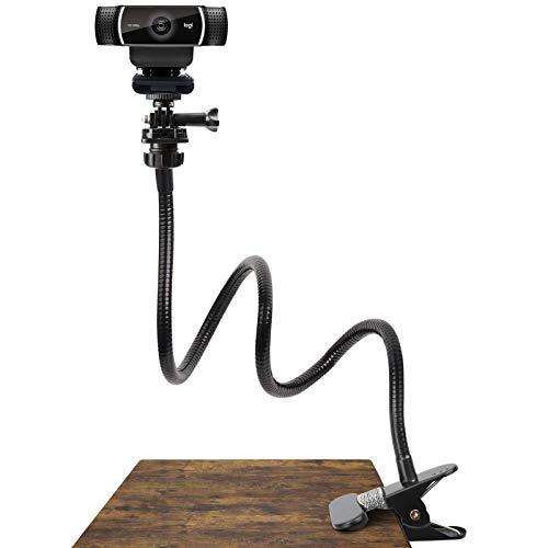 Pipishell 25 Inch Webcam Stand - Flexible Desk Mount Clamp Gooseneck Stand for Logitech Webcam C930e,C930,C920, C922x,C922, Brio 4K, C925e,C615-PIWS01