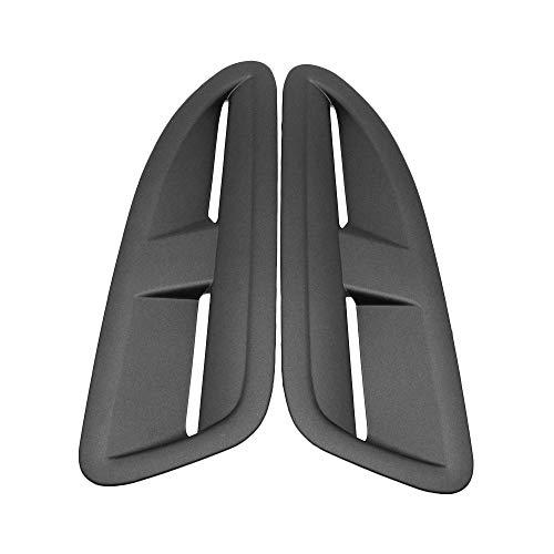 Fesjoy Capó, Bonnet Air Vent Hood Panel Boquilla Rejilla Frosted Black Reemplazo para Estilo Jaguar XKR RS VXR Ajuste para Negro Brillante 400 mm X 140 mm