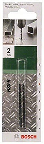 Bosch Professional 2 609 255 002 Broca para metal HSS-R, DIN 338, 2 mm