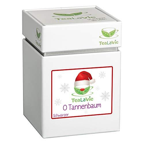TEALAVIE - Wintertee - O Tannenbaum | frische Orange mit würzigem Zimt | loser Schwarzer Tee | 100g Dose Schwarzertee lose