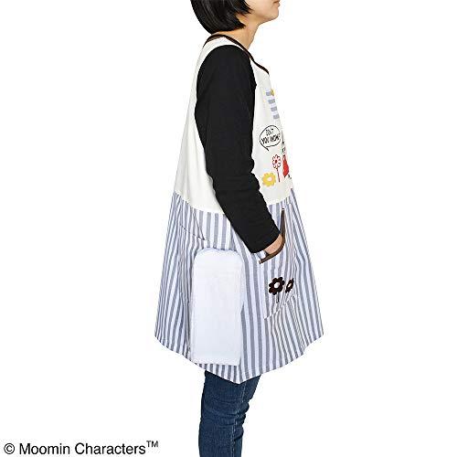 ムーミンエプロンストライプグレー【ST-IM0036】