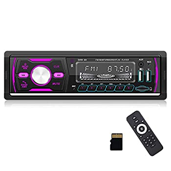 CAMECHO Single Din Car Stereo Bluetooth Audio 1DIN Car Radio with FM/AM/RDS/DAB+ Radio Receiver MP3 Player Dual USB/SD/AUX-in + Remote Control