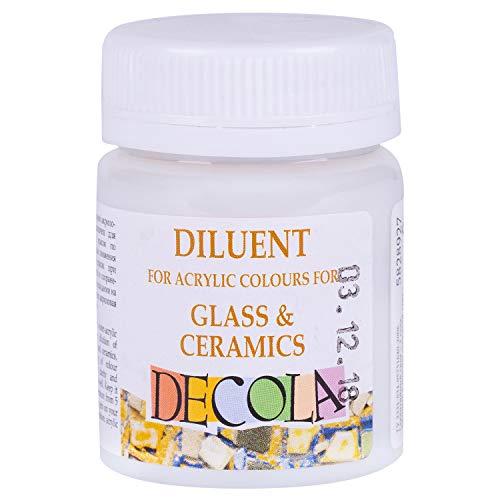 Decola - Acryl Verdünner für Porzellan und Keramik | 50ml Verdünnungsmittel für Acrylfarben | Hergestellt in Russland von Neva Palette