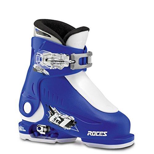 Roces Idea Up Kinder-Skischuhe, verstellbar, Größe 44-46, Blau / Weiß