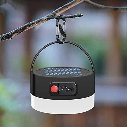 Sunboia Solar Camping Lampe,300LM wasserdichte Außenlaterne,4 Modi Solar Zelt Licht,wiederaufladbare draussen Zelt Licht Notfalllampe für Backpacking Wandern Angeln Ausfälle