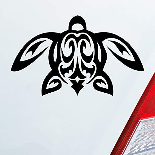 Auto Aufkleber in deiner Wunschfarbe Schildkröte Turtle Schildi Kröte Tribal 12x7cm Autoaufkleber Sticker Folie