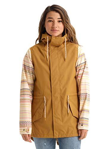Burton Sadie Damen Jacke, Wood Thrush/Creme Brulee Revel Stripe, Medium