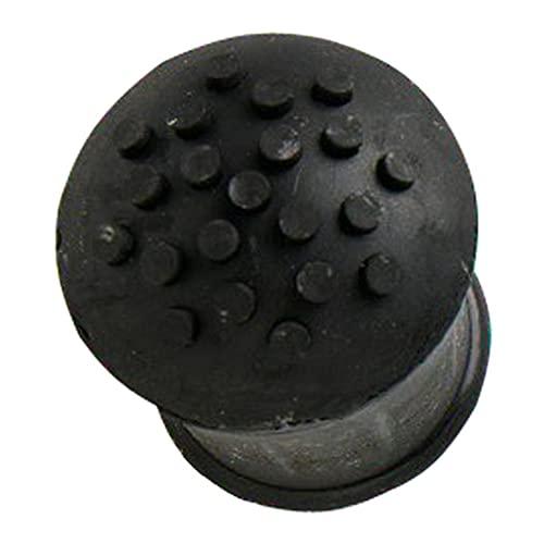 Merriway BH05584 Heavy Duty Rubber Walking Stick Ferrule Protectors Cane Tips, 25mm (1 inch) - Black, Pack of 4