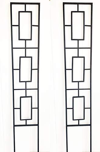 Ruddings Wood Set of 2 x Modern Design Garden Trellises - Garden Trellis Climbing Plant Support Frames