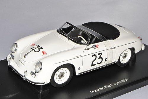 AUTOart Porsche 356A Speedster Weißs Nr 23 F J.D. 1955-1959 77865 1 18 Modell Auto mit individiuellem Wunschkennzeichen