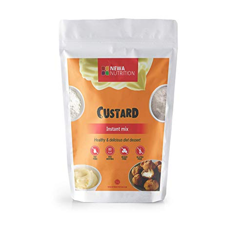 Custard Instant Mix, Custard Powder (Vanilla), Low carb, Gluten Free, Sugar Free - 8 oz. Low Calories 80 gr per serving. NO SUGAR ADDED