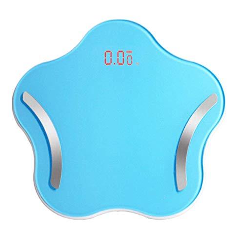Wghz Smart Scale Körperfettwaage mit neuem kostenlosen APP-Monitor für die Körperzusammensetzung mit extra großem Display 10-GB-Arbeitsspeicher, USB-Ladung mit Einer Kapazität von 180 kg, blau