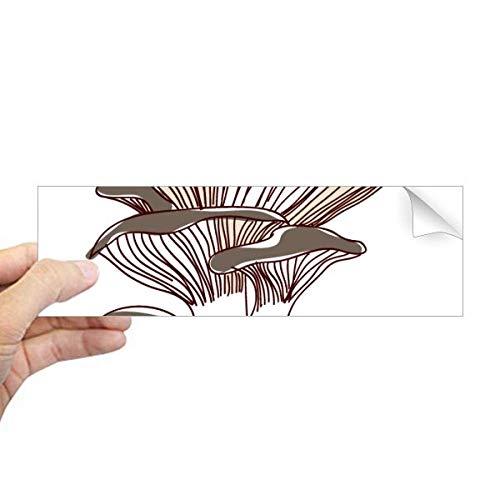 DIYthinker Delicious Home Dish Ilustración de setas rectangular para parachoques o portátil