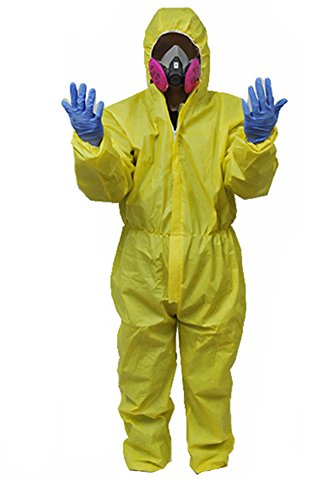 Gogam Breaking Bad Hazmat Lab WAlterr White Jumpsuit Kostüm Gelb