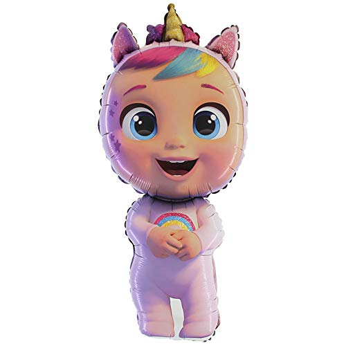 Palloncino in foil di Toyland Cry Babies Fantasy Dreamy Unicorn 44'- Decorazioni per feste