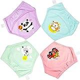 Flyish Windeln für Babys, waschbar, Windeln, Windeln, Windeln, Trainingshose, für Babys, Jungen, 1 – 3 Jahre, 4er-Pack Gr. 1 Jahre, mädchen