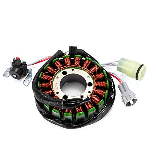 QAIK Magneto-Motorgenerator-Statorspule für Yamaha yfm125g YFM125GH Grizzly 125 Jäger Generator Lade 1C58141000 1C58141001