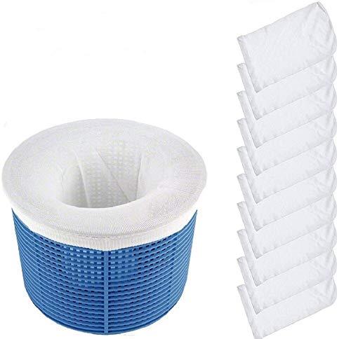 SunAurora Schwimmbad Skimmer Socken,Pool Skimmer Socken, Dauerhafte & Universal Pool Skimmer Netz,Schutz Filter (10pcs)