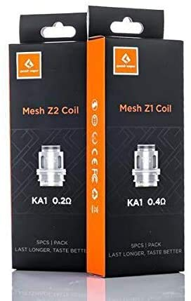 Resistenza per Atomizzatore Geekvape ZEUS MESH 5 pezzi Coil Z1 Z2 ORIGINALE (NO NICOTINA) (Z2 0,2ohm (70-80W))