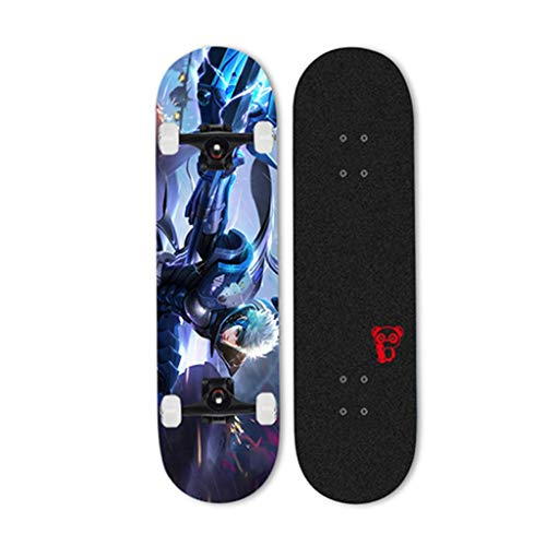 SHATONG Adult Surfing Street Vierwielige U-vormige Short Board Student Beginner Professionele Skateboard Jeugd Tieners Trendy Sport Scooter Kinderen Dubbele Warped Beauty Skateboard Game Personages