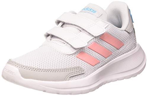 adidas TENSAUR Run C, Scarpe da Corsa Unisex-Bambini, Dash Grey/Glory Pink/Bright Cyan, 35 EU