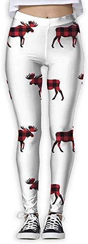 LVOE TTL Pantalon de leggings de yoga pour femmes à carreaux de buffle de Noël avec motif de buffalo pour femmes