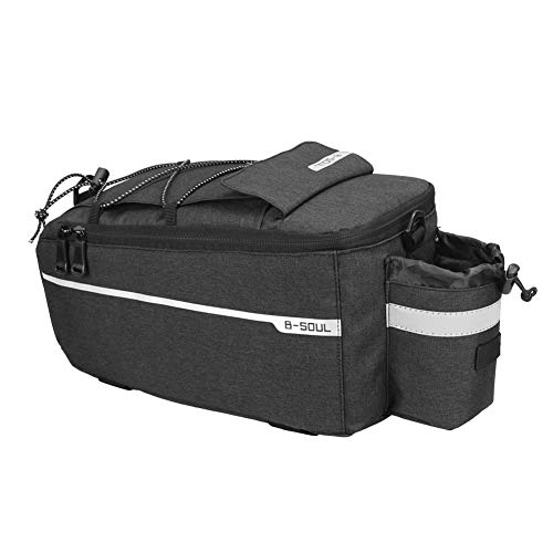 Naiyafly Bicycle Bag Insulated Trunk Cooler Pack Cycling Bicycle Rear Rack Storage Luggage Pouch Reflective MTB Bike Pannier Shoulder Bag