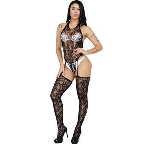SCHOLIEBEN Dessous Body Bodystocking Damen Frauen Set Reizwäsche Netz Spitze Babydoll Obsessive Sexy Wetlook Ouvert Reizvolle Sissy Erotische Nuttiges Negligee Unterwäsche