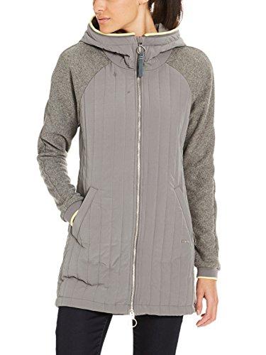 Bench Damen CORE Slim Material Mix Coat Mantel, Grau (Dark Grey Gy149), X-Small