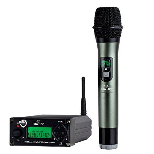 Nady DW-100 Digital 100-Channel Professional Wireless Microphone System - Live Stage Performance - Karaoke