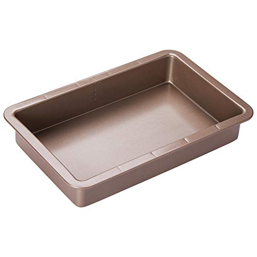 Nonstick Cookie Sheet Baking Pan |13.3' Large and Medium Metal Oven Baking Tray - Professional Quality Kitchen Cooking Non-Stick Bake Trays w/Rimmed Borders, Guaranteed NOT to Wrap