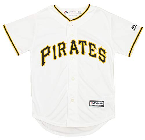 Outerstuff MLB Youth Boys Pittsburgh Pirates Team Finished Home Replica Jersey, Small