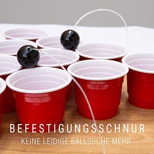 BeerBaller® Shot Pong Cherry – Beer-Pong als Shot Version! | TRINKSPIEL NEUHEIT 2020! | Ideal für Partys, Vorglühen, Festival, JGA oder als Geschenkidee - 4