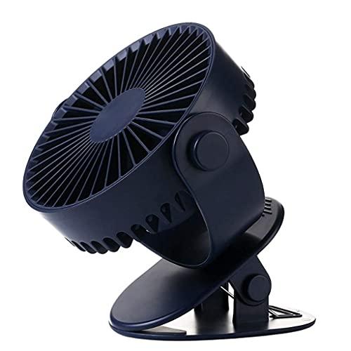 Ventilador Ventilador USB Portátil Mini Escritorio Personal Ventilador Recargable 3 Velocidades Refrigeración Ajustable Escritorio Ventilador Escritorio Mini Ventilador Mini Ventilador (Color: Azul)