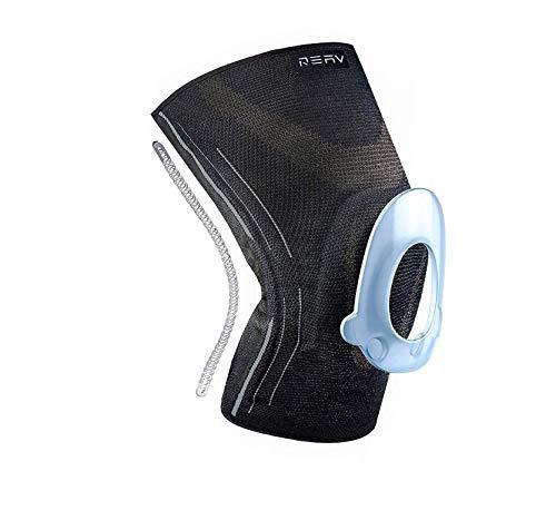 REAV Recovery Kniebandage für mehr Stabilität im Alltag und Sport - Damen und Männer – Atmungsaktive unterstützenden Sportbandage, stabilisierende Kniestütze und Kompressionsbandage