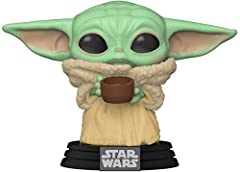 From Star Wars: The Mandalorian is The Child with Cup as a stylized Pop! vinyl bobblehead from Funko! Stylized collectible stands approximately 3.25 inches tall, perfect for any Mandalorian or Star Wars fan! This figure is a bobblehead. Collect and d...