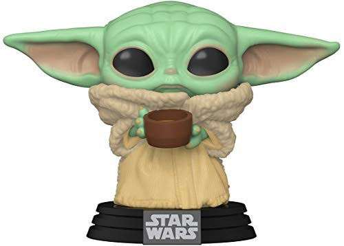 Funko- Pop Star Wars: Mandalorian-The Child w/Cup Figura Coleccionable, Multicolor (49933)