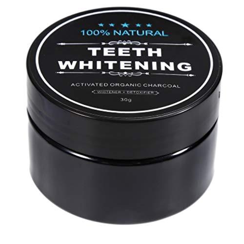 Aktivkohle Zahnpasta Pulver Zahnweiß Zahnaufhellungs Set Kohle natürlich teeth whitening Powder Bambus Zahnbürste Zahnweiss Pulver