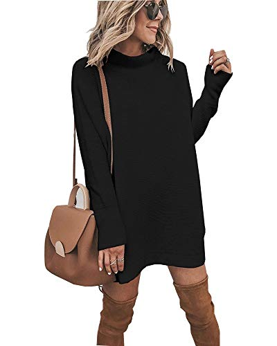 Walant Robe Femme Tops Pull à Manches Longues Col Rond Robe...